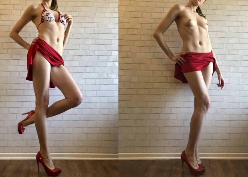 【リベンジポルノ】海外のヤリチンニキから流出した彼女の着衣ヌード比較画像、ただただエロい!!(画像あり)・8枚目