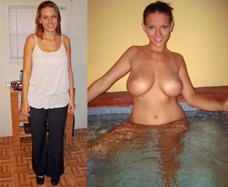 【リベンジポルノ】海外のヤリチンニキから流出した彼女の着衣ヌード比較画像、ただただエロい!!(画像あり)・16枚目