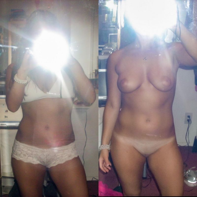 【リベンジポルノ】海外のヤリチンニキから流出した彼女の着衣ヌード比較画像、ただただエロい!!(画像あり)・23枚目