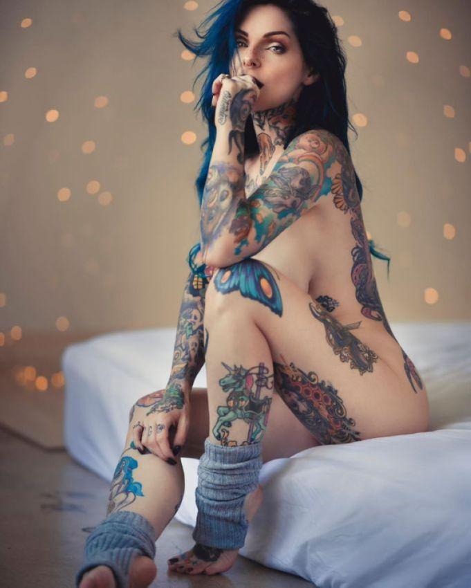 【ヤバ過ぎ】日本なら完全にアンタッチャブルな全身タトゥーだらけのモデルの画像がヤバすぎる!!(画像)・20枚目