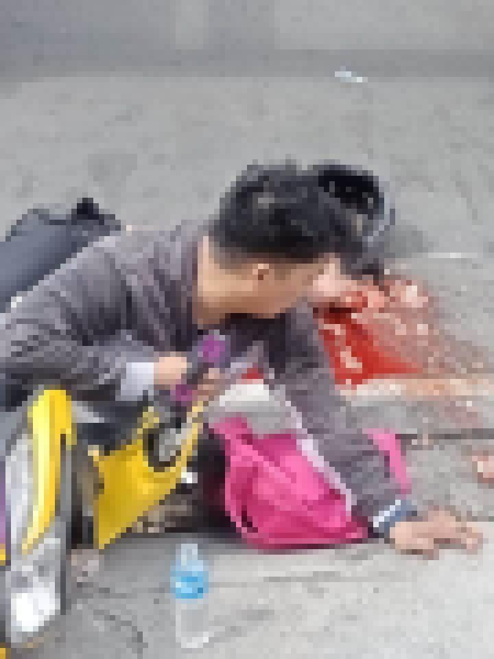【グロ注意】二人乗りのバイクが事故った結果、後ろに乗ってた彼女が・・・・・(画像あり)・1枚目