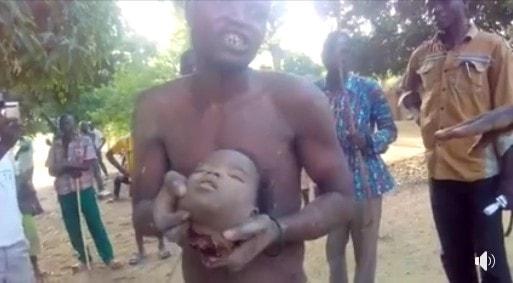 【胸糞注意】黒魔術儀式のために少女を殺害して斬首したナイジェリア男性、住民にボコボコにされる・・・・(画像)・3枚目