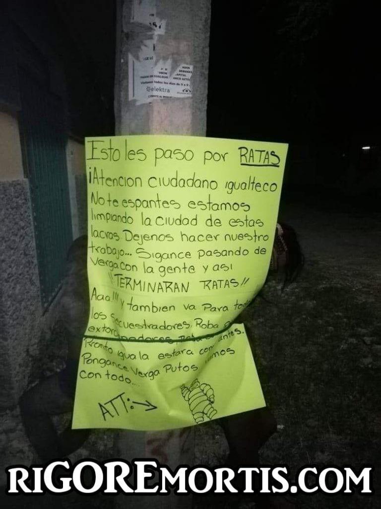 【怖すぎ】メキシコギャングさん、支配地域で盗みを働いたカップルを見せしめに○○してしまう・・・・(画像)・1枚目