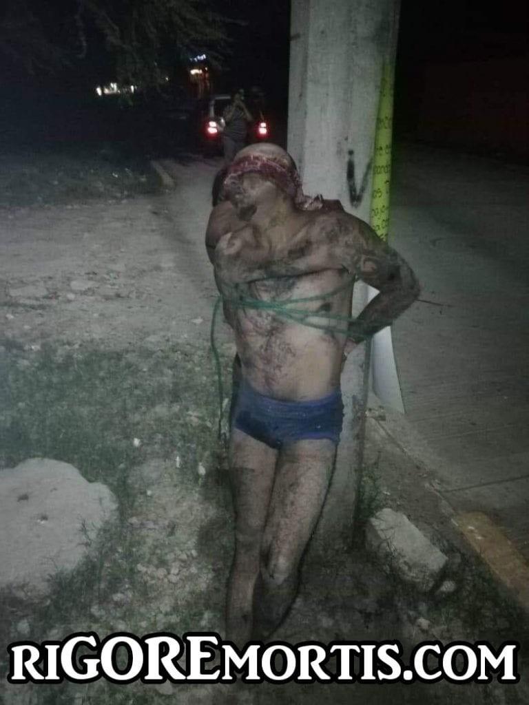 【怖すぎ】メキシコギャングさん、支配地域で盗みを働いたカップルを見せしめに○○してしまう・・・・(画像)・3枚目