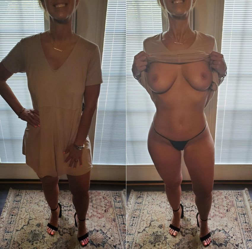 【保存必須】楽しそうな外人まんさんの着衣ヌード比較画像、まんまと彼氏に晒されてて草wwwww(画像)・13枚目