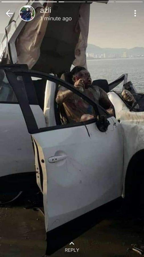 【土左衛門注意】車ごと海へダイブしてしまった外国人男性、人形のような見た目になって引き上げられる・・・・・(画像)・1枚目