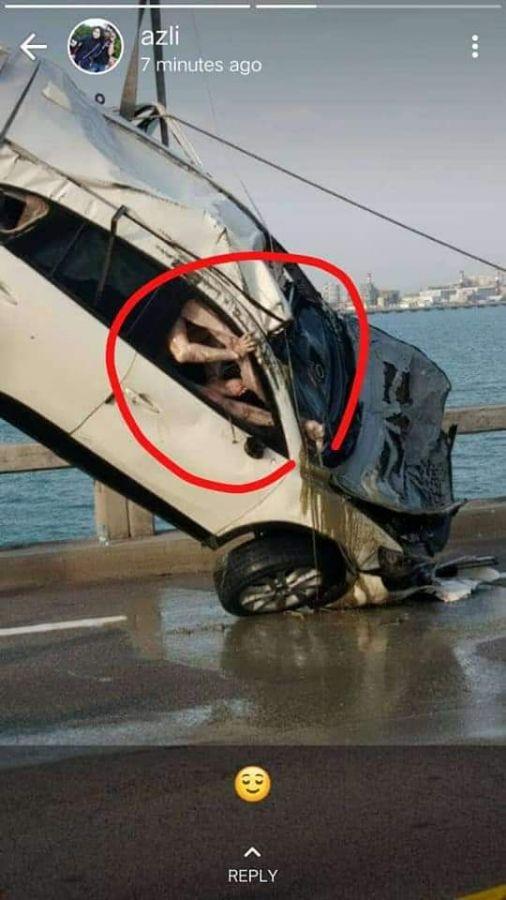 【土左衛門注意】車ごと海へダイブしてしまった外国人男性、人形のような見た目になって引き上げられる・・・・・(画像)・3枚目