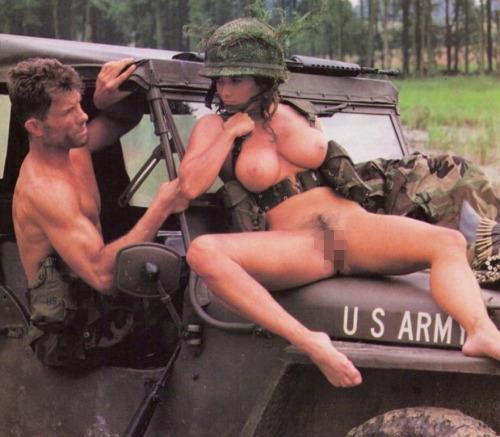 【ソルジャーエロ】戦場に派兵されてる女性兵士さん、ついハメを外してしまった画像がこちら・・・・(画像)・28枚目