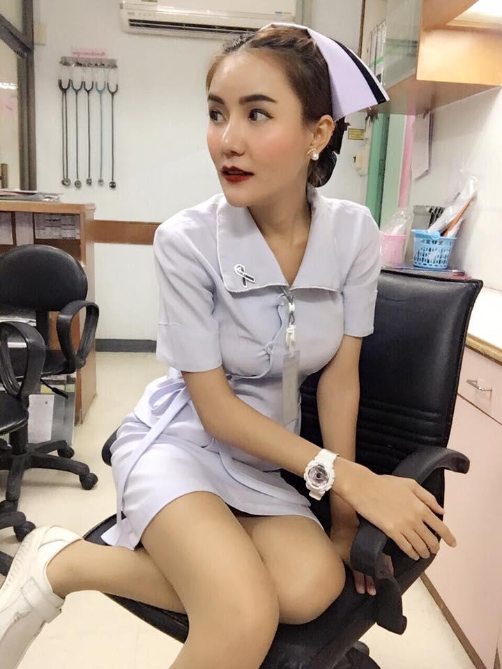 【美脚ナース】タイのナース制服、今じゃすっかり姿を消してしまったスカートタイプでクッソエロい!!(画像あり)・24枚目