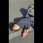 【手遅れ・・・】詳細不明 バイクで転倒して全身痙攣しまくるかなり危険な映像・・・・・(動画)