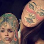 【楽しそうwww】顔入れ替えアプリを使って自分のタトゥーと顔面を入れ替える陽キャ外国人wwwwww(画像あり)