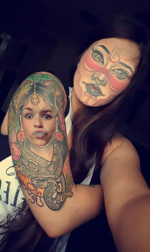 【楽しそうwww】顔入れ替えアプリを使って自分のタトゥーと顔面を入れ替える陽キャ外国人wwwwww(画像あり)・17枚目