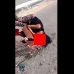 【ザクロ注意】トラックに轢かれて頭がプチュンと潰れてしまった閲覧注意な事故動画!!(動画あり)