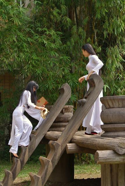 【アオザイ少女】ベトナムのアオザイという清楚なようでエロエロな見た目の民族衣装wwwwwww(画像50枚)・19枚目